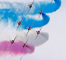 Red Arrows Turn by jetshots