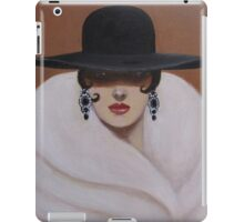 A LADY WRAPPED IN FUR iPad Case/Skin