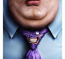 Man Fat and Tie Photographic Print