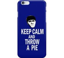 KEEP CALM AND THROW A PIE iPhone Case/Skin