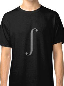 Silver Integral Symbol Classic T-Shirt