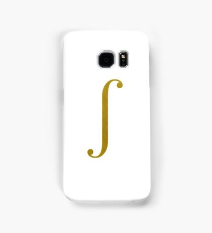Gold Integral Symbol Samsung Galaxy Case/Skin