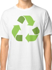 Green Reduce, Reuse, Recycle, Repurpose Mother Earth Classic T-Shirt