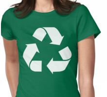 White Reduce, Reuse, Recycle, Repurpose, living green Womens Fitted T-Shirt