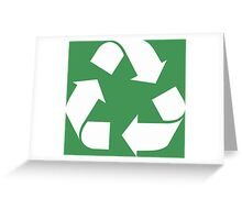 White Reduce, Reuse, Recycle, Repurpose, living green Greeting Card