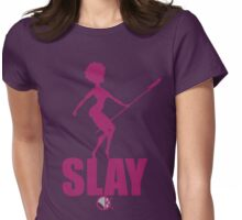 OKAYI GOTIT SLAY Purp Womens Fitted T-Shirt