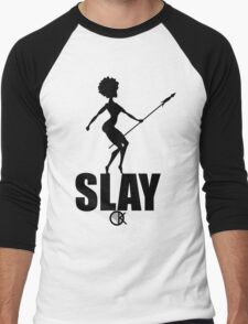 OKAYI GOTIT SLAY Black Men's Baseball ¾ T-Shirt