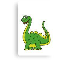 Happy Dinosaur  Canvas Print