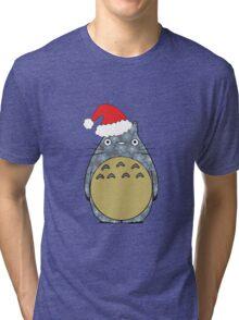 Totoro Christmas Tri-blend T-Shirt