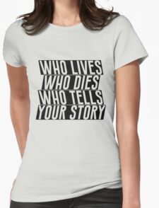 Who Lives Womens Fitted T-Shirt