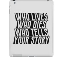 Who Lives iPad Case/Skin