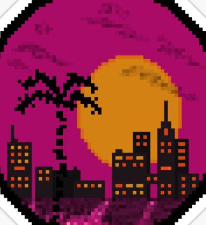 Miami Sunset Sticker