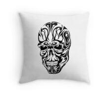 Tribal Skull Throw Pillow