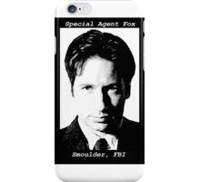 Special Agent Fox Smoulder, FBI iPhone Case/Skin