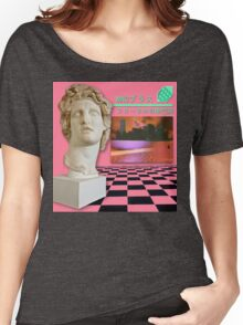 Aesthetic Vaporwave Statue Women's Relaxed Fit T-Shirt