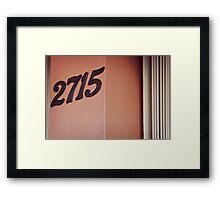 #2715 (Miami) Framed Print