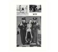 WTF - Threesome penguin bear and cops Art Print