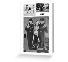 WTF - Threesome penguin bear and cops Greeting Card