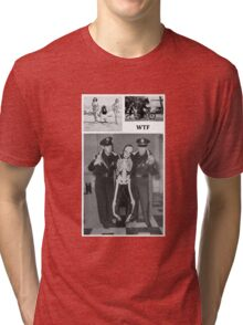 WTF - Threesome penguin bear and cops Tri-blend T-Shirt