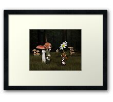 Goblin Valentine's Day in the Forest Framed Print