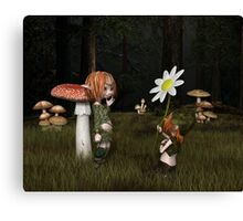 Goblin Valentine's Day in the Forest Canvas Print