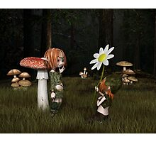 Goblin Valentine's Day in the Forest Photographic Print