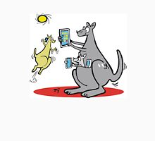 Cartoon kangaroo with computer and mobile phone Unisex T-Shirt