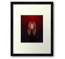 Red hot rage Framed Print