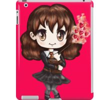 Cute Hermione Granger in Gryffindor Uniform Casting a Love Spell (Hand-Drawn Illustration) iPad Case/Skin