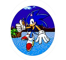 Sonic Green Hill Zone Photographic Print