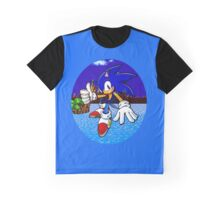 Sonic Green Hill Zone Graphic T-Shirt