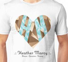 Heather Heart Facet Unisex T-Shirt