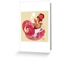 Tea Mermaid Greeting Card