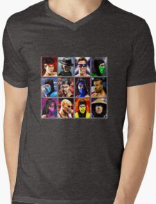 Mortal Kombat 2 Character Select Mens V-Neck T-Shirt