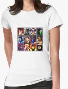 Mortal Kombat 2 Character Select Womens Fitted T-Shirt