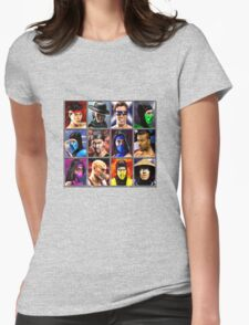 Mortal Kombat 2 Character Select Womens Fitted T-Shirt