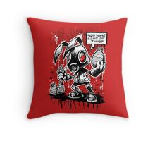 RvB - Not you average easter bunny Throw Pillow