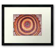 Fire Healing Circle Framed Print