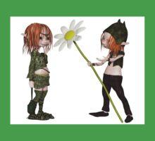 Goblin Valentine's Day Flower One Piece - Short Sleeve