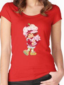 Strawberry Shortcake & Custard Women's Fitted Scoop T-Shirt