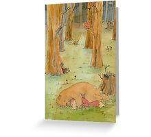 While you were sleeping. Greeting Card