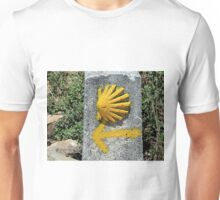El Camino shell & arrow marker, Spain Unisex T-Shirt