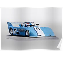 1973 Lola T292 Vintage Can Am Racecar Poster