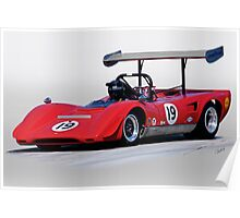 1969 Lola T163 Vintage Can Am Racecar Poster