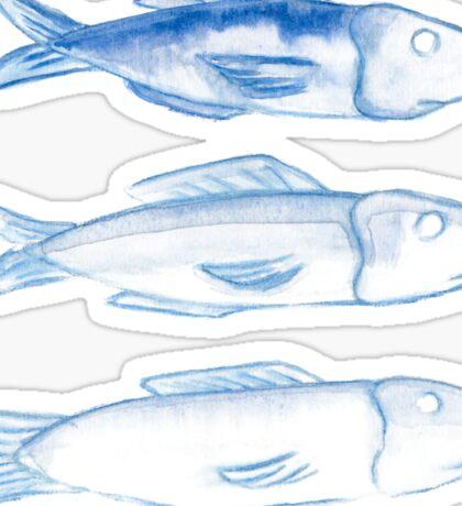 three watercolor fish Sticker
