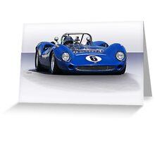 1966 Lola T70 MKII Vintage Racecar Greeting Card