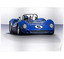 1966 Lola T70 MKII Vintage Racecar Poster