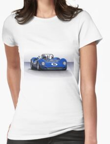1966 Lola T70 MKII Vintage Racecar Womens Fitted T-Shirt