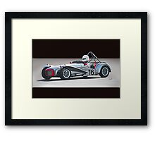 1964 Lotus Super 7 Vintage Racecar Framed Print