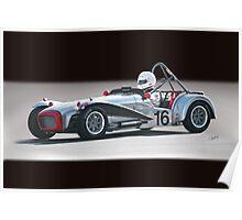 1964 Lotus Super 7 Vintage Racecar Poster